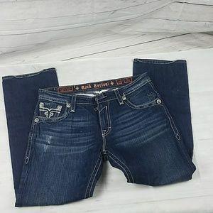 Men's Rock Revival Jean's Paul Straight Leg Sz 38